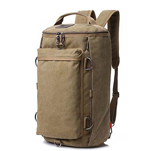 Kaki  ZOUQILAI de plein air grand-capacité toile voyage sac Weekend sac Multi-Purpose Shoulder sac Three-Couleur Selection