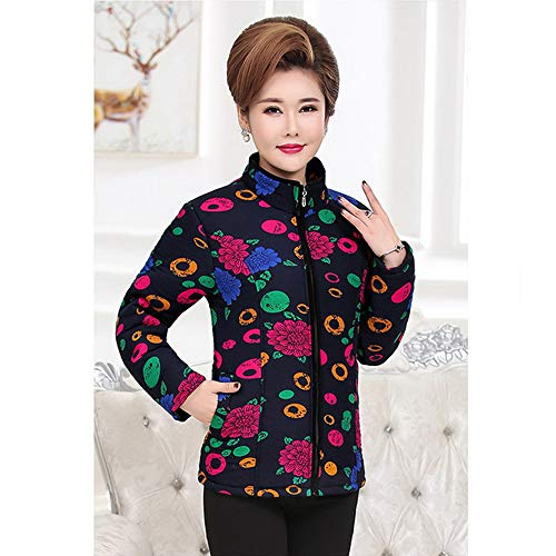 Warm KINDOYO 12 Jacket Colors Style Collar Short Stand Winter Printing Outwear Coat 12 Womens Coat Down rBZrw8