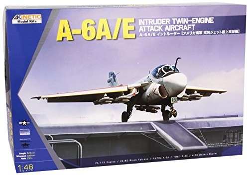 Kinetic A6A/E Intruder Twin-Engine Attack Aircraft Model Kit, Scale 1/48 (48 Aircraft Model)