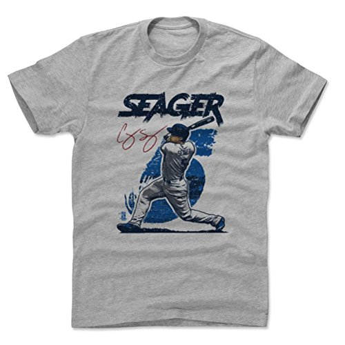 500 LEVEL's Corey Seager Cotton Shirt XXX-Large Heather Gray - Los Angeles Baseball Fan Apparel - Corey Seager Rough B