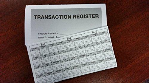 5 - Checkbook Registers - 2016-17-18 Calendar - Transactions Checking Book