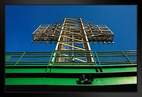 Fenway Park Framed Photo (Lights Structure at Fenway Park Boston Photo Art Print Framed Poster 12x18 by ProFrames inch)