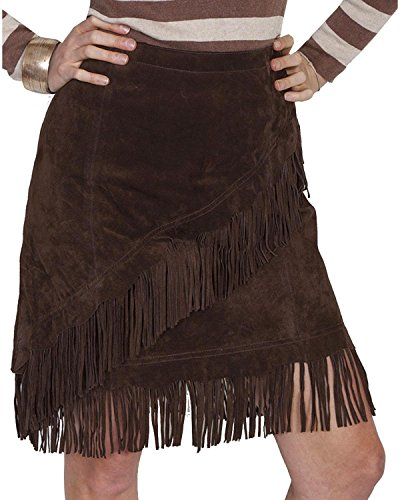 Scully Women's Tracy Suede Skirt, Espresso, MD