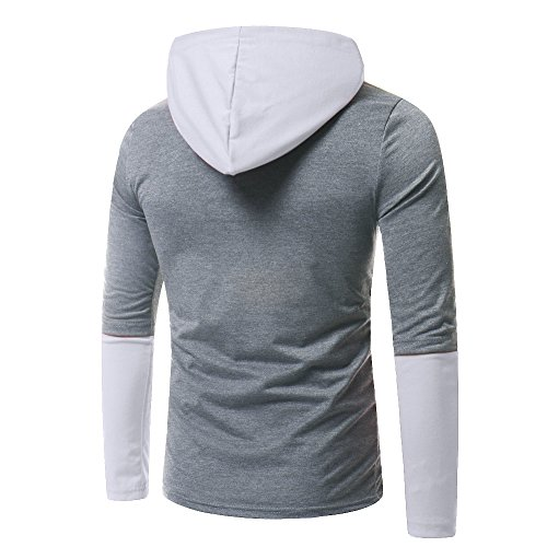 Manches Color Couture Longues Haut À Gris De Roiper Capuche Blouse Joint Chemise Pure Homme cFYwPgqw
