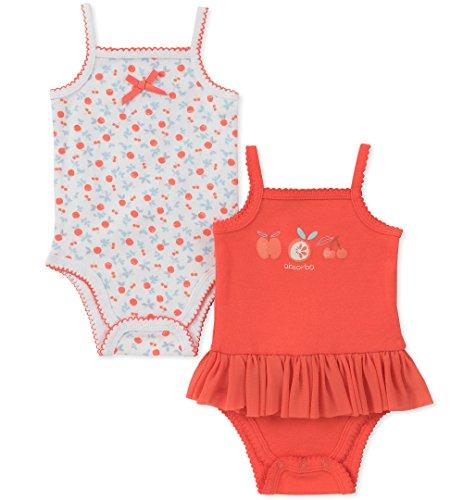 absorba Baby Girls 2 Pack Bodysuit