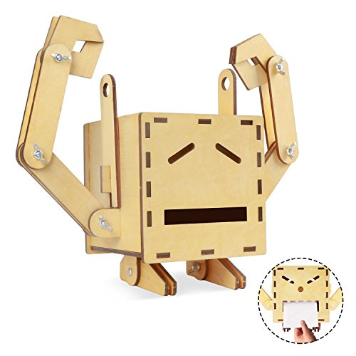 3d Wooden Robot Puzzle Tissue Box Bored Outta My Skull
