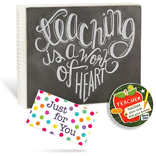 Teacher Gift - Chalkboard Box Signs with Gift Card and Car (Teachers Plant Seeds)