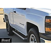 "iBoard Running Boards 4"" Fit 99-13 Chevy Silverado/GMC Sierra Regular Cab Nerf Bar Side Steps Tube Rail Bars Step Board"