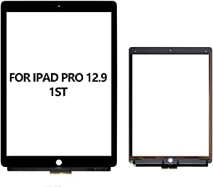 ETWBEOK for iPad Pro 12.9 1st 2015 Touch Screen Replacement, Touch Screen Digitizer Front Glass Assembly Only Compatible with A1584 A1652 (Without Home Button, Black)