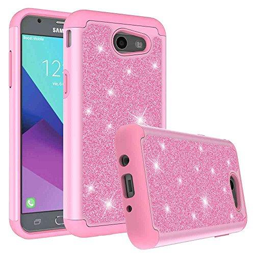 Galaxy J3 Emerge Case, SuperbBeast Fashion Glitter Sparkly