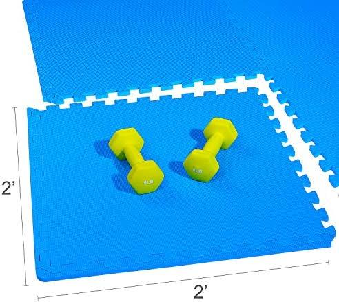 BalanceFrom Puzzle Gymnastikmatte mit hochwertigem Eva-Schaum Interlocking Fliesen