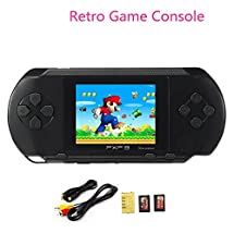 "Huntmic 2.7"" LCD Screen PXP3 Slim Handheld Video Game Console 16Bit Portable Game Players Built in 100+ games (Black)"