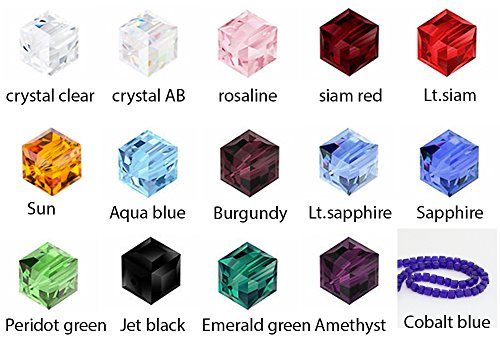 8 Mm Faceted Cube - 1