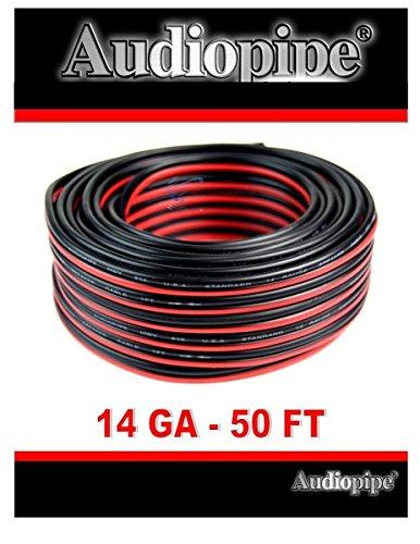 14 Gauge 50 Feet Red Black Stranded 2 Conductor Speaker Wire Car Home Audio ()