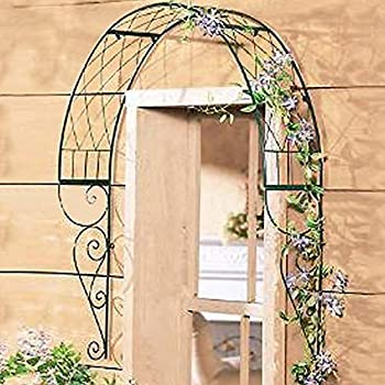 TINTON LIFE Metal Garden Trellis For Climbing Plants Wall Mounted Garden  Arbor Arch For Windows Doors Vines Flowers Pot Trellis Plant Support For  Ivy Roses ...