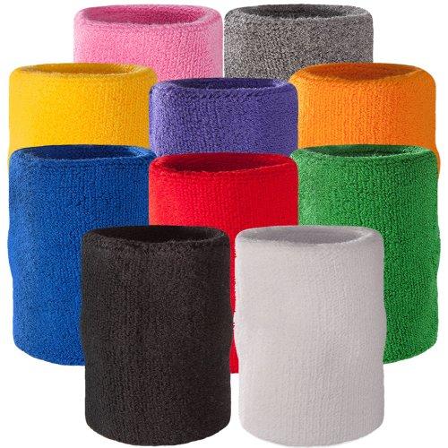 [Suddora Arm Sweatband - Athletic Cotton Armband for Sports (Blue)] (Sports Day Costume Ideas Blue)