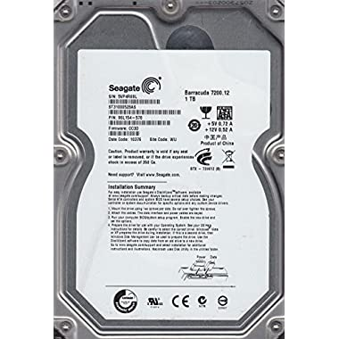 ST31000528AS, 5VP, WU, PN 9SL154-578, FW CC3D, Seagate 1TB SATA 3.5 Hard Drive
