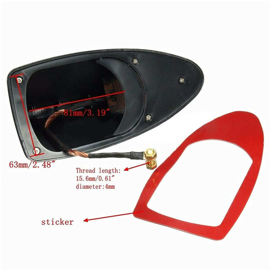 Car Universal Black Shark Fin Roof Antenna Aerial FM//AM Radio Signal Decor Trim