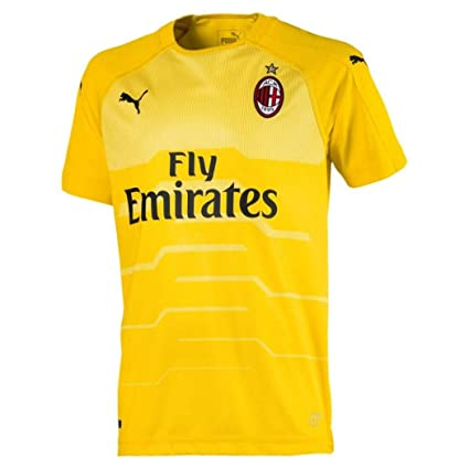 Image Unavailable. Image not available for. Color  PUMA 2018-2019 AC Milan  Home SS Goalkeeper Football Soccer T-Shirt ... 62093c11e