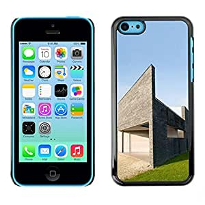 PC/Aluminum Funda Carcasa protectora para Apple Iphone 5C Architecture Modern House / JUSTGO PHONE PROTECTOR