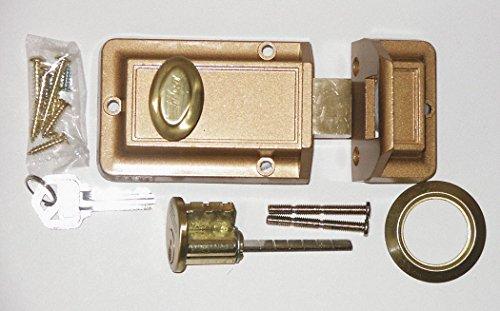 Kaba Ilco Auxiliary Lock, Jimmyproof, Bronze
