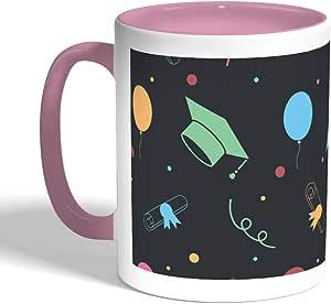 Printed Coffee Mug, Pink Color, Graduation Day Celebration