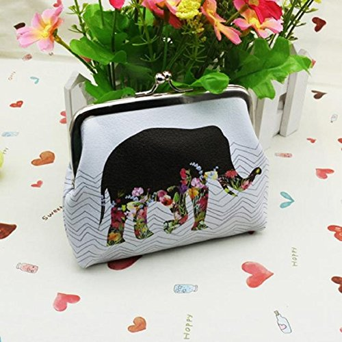 Misaky Womens Elephant Wallet Card Holder Make Up bag Coin Purse Clutch Handbag