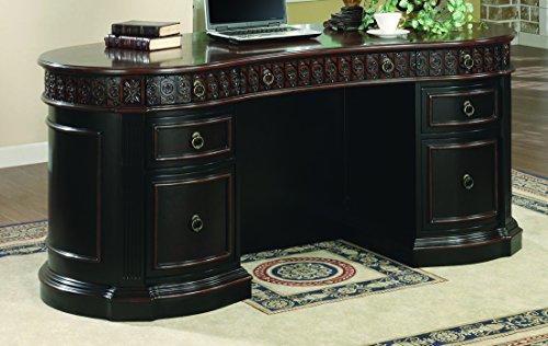 Solid Office Executive Wood Furniture - Coaster Oval Shaped Executive Desk