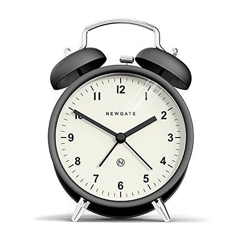 British Clock (Newgate Charlie Bell Alarm Clock, Matte Black)