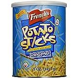 French's Original Potato Sticks, Gluten Free Snack, Bulk Potato Sticks, 5 oz (Pack of 12)