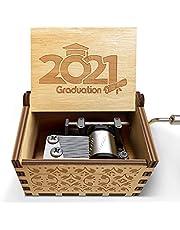 Amazing Graduation Gifts, 2021 Graduation Wooden Music Box Gifts for High School College Graduate,Classic Retro Hand Crank Music Box - Best Graduation Memento for Graduates,Best Graduation Memento,