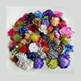 Botiquecutie 100 Assorted Flower Heads for Crafts - Head Bands - Fairy