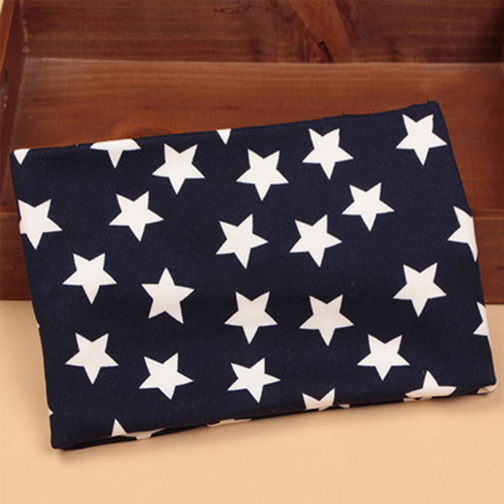 SunnyClover 1 Pcs Baby Scarves Stars Pattern Double Thickening Warm Soft Cotton Neckerchief for Baby Boy Girl Navy Color