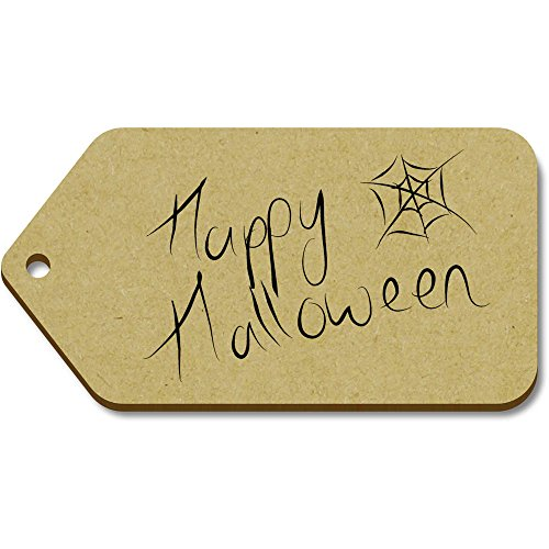 Azeeda 10 x Large 'Happy Halloween' Wooden Gift Tags (TG00011645)