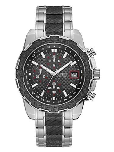 GUESS-Mens-Quartz-Stainless-Steel-Casual-Watch-ColorSilver-Toned-Model-U1046G1