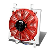 Acura Integra MT Aluminum Bolt-on Cooling Radiator Fan Shroud (Red) - DA9 DB1 DB2