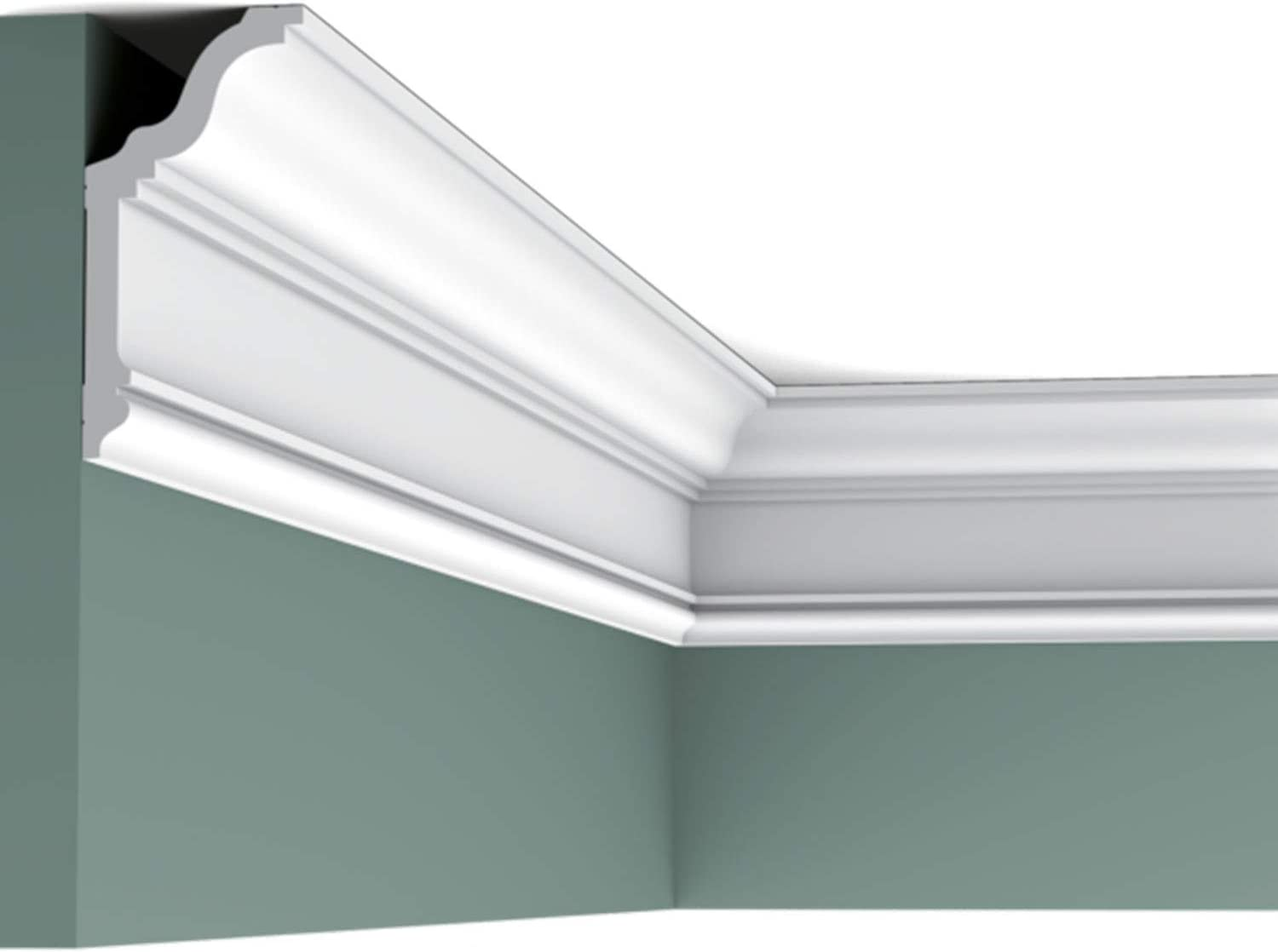 Orac Decor CX192 | High Impact Polystyrene | Crown Moulding | Primed White | 78in Long
