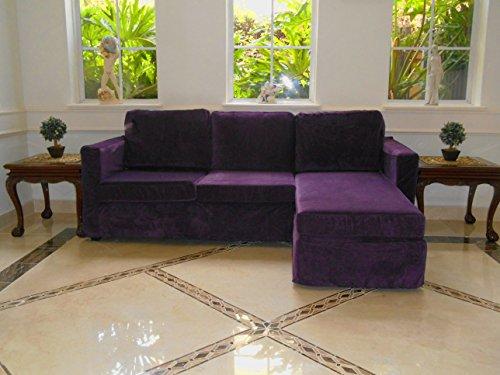 Casa Reversible Chaise Sectional Sofa (purple)