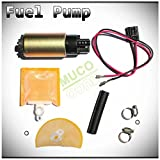 95 honda civic fuel hoses - MUCO New 1pc High Performance Electric Gas Intank EFI Fuel Pump With Strainer/Filter + Rubber Gasket/Hose + Stainless Steel Clamps + Universal Connector Wiring Harness & Necessary Installation Kit