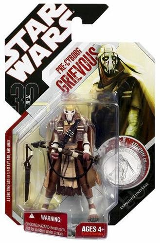 Star Wars 30th Anniversary Pre-Cyborg Grievous Action Figure #36 with Coin -