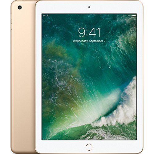 Apple iPad with WiFi, 32GB, Gold (2017 Model) (Certified Refurbished) by Apple