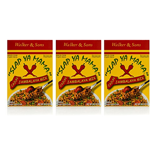 Slap Ya Mama Louisiana Style Jambalaya Dinner Mix, Quick and Easy Cajun Meal, 8 Ounce Box, Pack of 3 (Shrimp Jambalaya And Chicken)