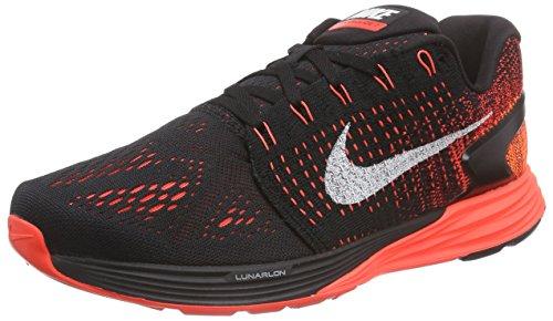 Nike Lunarglide 7 - Zapatillas de running hombre Negro - Schwarz (Black/Summit White-Bright Crimson)