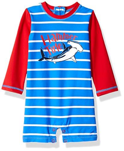 (Hatley Baby Boys Mini One Piece Rash Guard, Surf Island, 18-24 Months)
