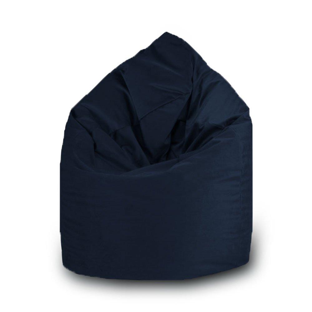 Pufmania Beanbag Pouf a pera, in poliestere, impermeabile, per esterni, misura M: 60x 100cm, Blu navy