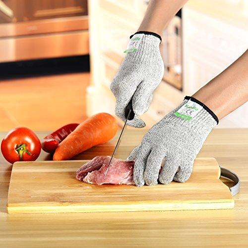 Cut Resistant Gloves, Koolife Kitchen Working Kevlar