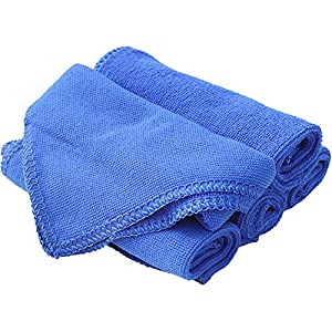 Techway Microfiber Towels Cleaning Cloths Quick Dry Anti-Scratch Towels for car kitchen 11.8 in. x 11.8 in. (pack of 3)