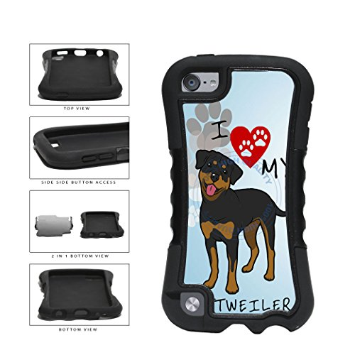 BleuReign(TM) I Love My Rottweiler Dog Lover 2-Piece - Ipod 5 Generation Snoopy Case