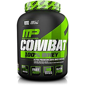 MusclePharm Combat 100% Whey Protein Powder, Chocolate Milk, 5 Pound