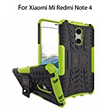 Heartly Xiaomi Mi Redmi Note 4 Back Cover Kick Stand Rugged Shockproof Tough Hybrid Armor Dual Layer Bumper Case - Great Green